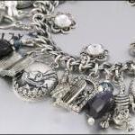 Charm Bracelet, Silver Alice in Won..